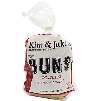 Kim & Jake's Gluten Free Plain Buns, 8 OZ