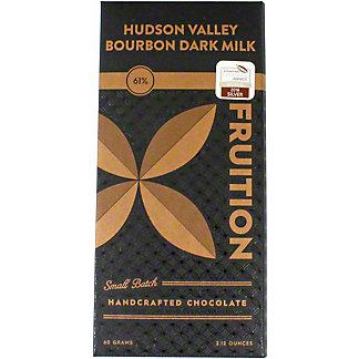 Fruition Hudson Valley Bourbon Dark Milk 61% Chocolate Bar, 60 g