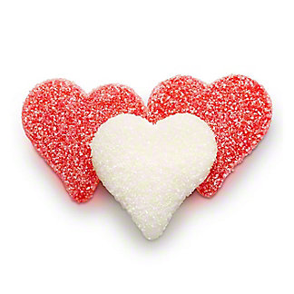 Albanese Gummi Sour Valentines Sanded Hearts, Sold by the pound