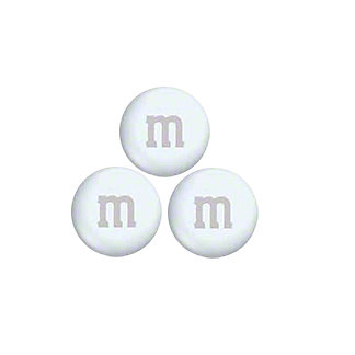 Mars White M&Ms, Sold by the Pound