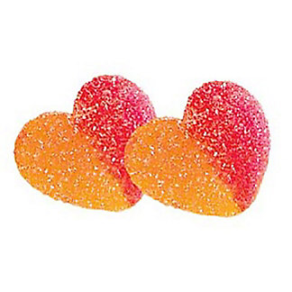 Vidal Gummi Peach Hearts, Sold by the Pound