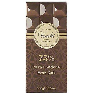 Venchi 75% Dark Chocolate Bar, ea