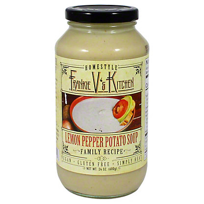 Frankie V Lemon Pepper Potato Soup, 24 oz