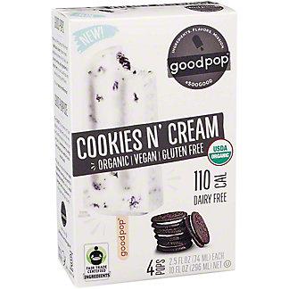 GoodPop Cookies N' Cream Pops, 4 ct