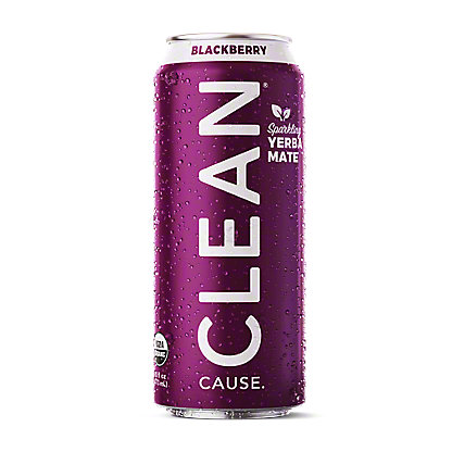 Clean Cause Yerba Mate Blackberry Tea, 16 oz
