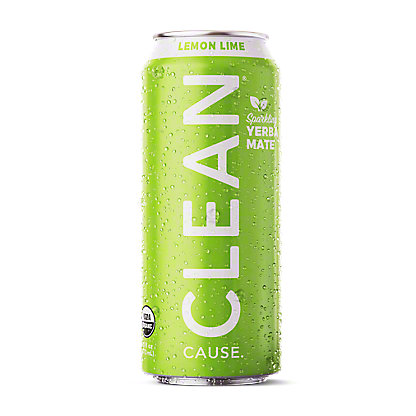 Clean Cause Yerba Mate Lemon Lime Tea, 16 oz