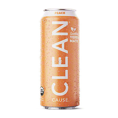 Clean Cause Yerba Mate Peach Tea, 16 oz