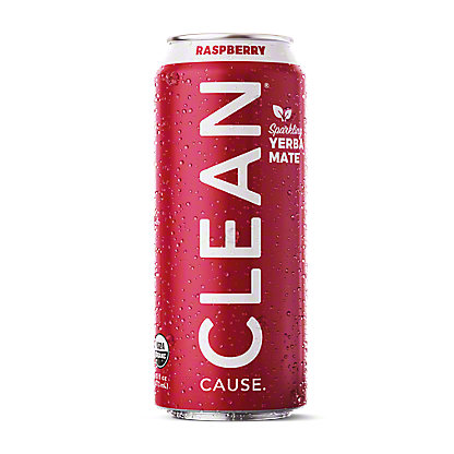 Clean Cause Yerba Mate Raspberry Tea, 16 oz