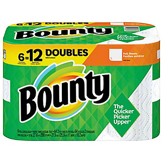 Bounty Full Sheet Double Rolls Paper Towels, 6 ct