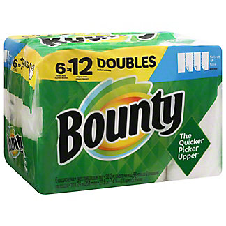 Bounty Select-A-Size Double Rolls Paper Towels, 6 ct