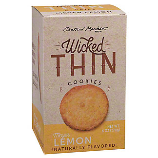 Central Market Wicked Thin Meyer Lemon Cookies, 6 oz