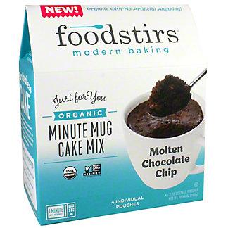 Foodstirs Organic Minute Mug Cake Mix Molten Chocolate Chip, 10.58 oz