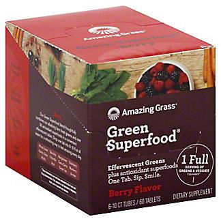 Amazing Grass Effervescent Green Superfood Tubes Berry, 6 pk