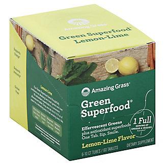 Amazing Grass Effervescent Green Superfood Lemon Lime Tubes, 6 pk