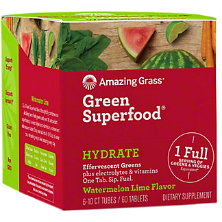 Amazing Grass Hydrate Watermelon Lime Effervescent Greens, 60 ct