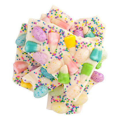Bulk White Chocolate Easter Bark, Sold by the pound
