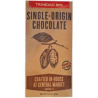 Central Market Bean To Bar Trinidad 80%, 2.5 oz