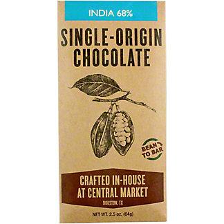Central Market Bean To Bar India 68%, 2.5 oz