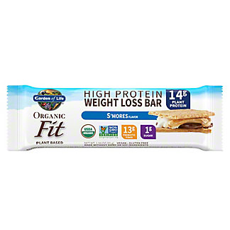Garden of Life Organic Fit High Protien Weight Loss Bar S'mores, 1.94 oz