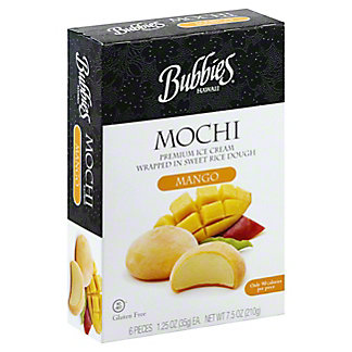 Bubbies Mochi Mango Ice Crem, 6 ct