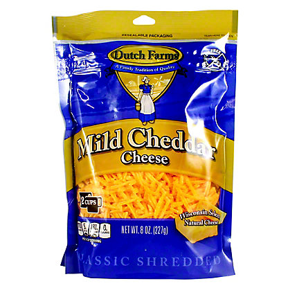 Dutch Farms Shredded Cheddar Cheese, 8 oz