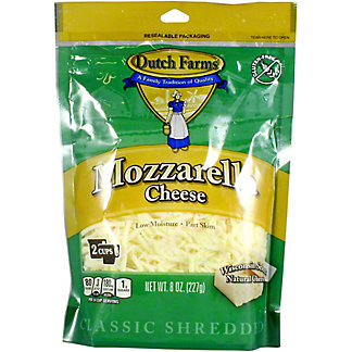 Dutch Farms Shredded Mozzarella Cheese, 8 oz