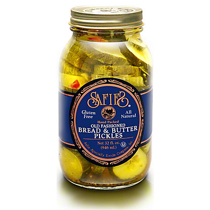 Safies Bread & Butter Pickles, 32 oz