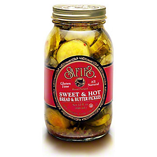 Safies Pickles Sweet & Hot Bread & Butter, 32 oz