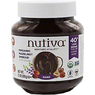 Nutiva Organic Hazelnut Spread Dark Cocoa, 13 OZ