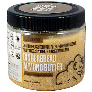 Base Culture Gingerbread Almond Butter, 16 oz