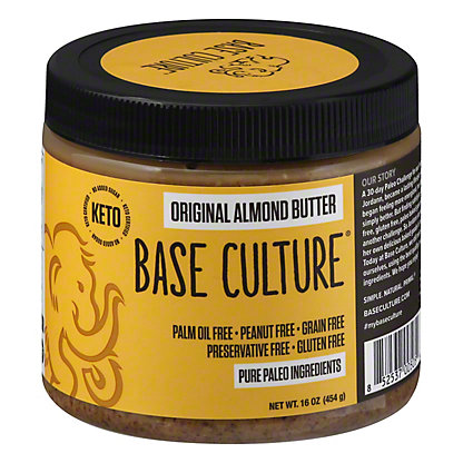 Base Culture Almond Butter Raw, 16 oz