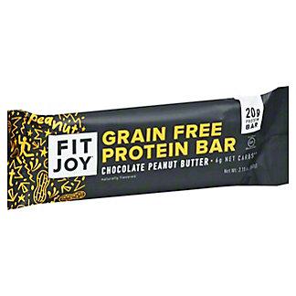 FitJoy Chocolate Peanut Butter Bar, 2.11 oz