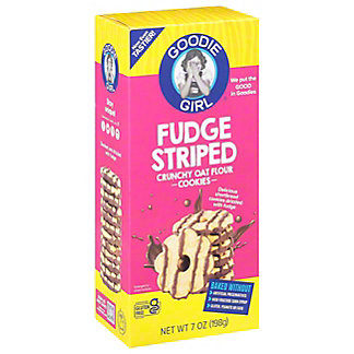 Goodie Girl Cookies Gluten Free Fudge Striped Cookies, 7 OZ