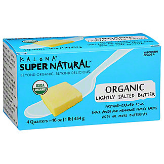 Kalona Supernatural Butter Lightly Salted 100% Organic, 1 lb