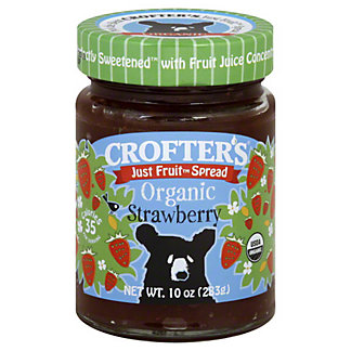 Crofters Just Fruit Organic Fruit Spread Strawberry, 10 oz