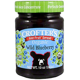 Crofters Just Fruit Organic Fruit Spread Blueberry, 10 oz