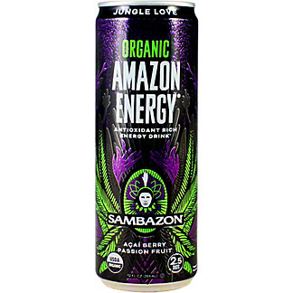 Sambazon Amazon Energy Energy Drink Jungle Love Passion Fruit, 12 oz