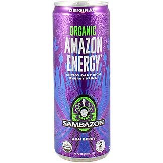 Sambazon Amazon Energy Energy Drink Original, 12 oz