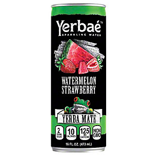 Yerbae Watermelon Strawberry Yerba Mate Sparkling Water, 16 oz