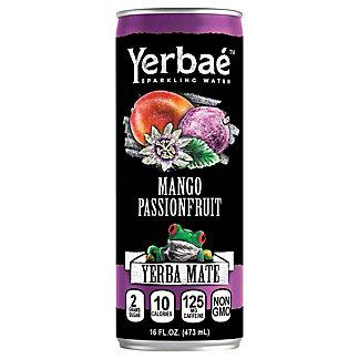 Yerbae Mango Passionfruit Yerba Mate Sparkling Water, 16 oz