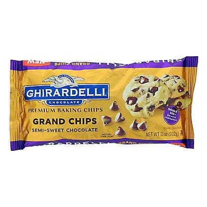 Ghirardelli Grand Chips Semi Sweet Chocolate Baking Chips, 11 oz