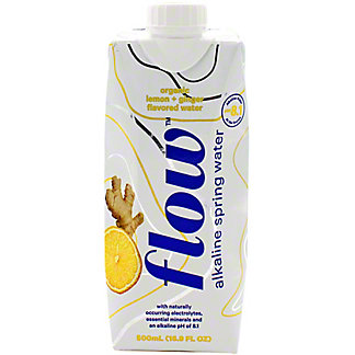 Flow Water Lemon Ginger Flavored Alkaline, 16.9 oz