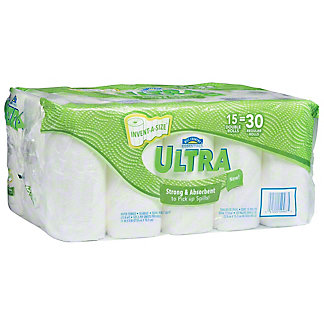 Hill Country Essentials Ultra Invent-A-Size Paper Towels, 15 ct