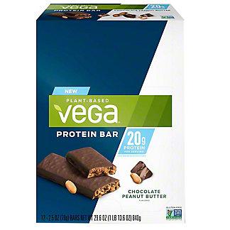 Vega 20G Protein Bar Choco Peanut Butter, 12 ct