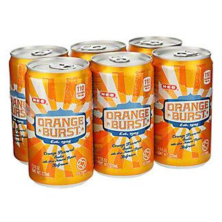H-E-B Orange Burst Soda 7.5 oz Cans, 6 pk