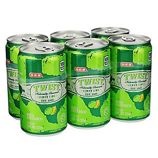 H-E-B Twist Lemon Lime Soda 7.5 oz Cans, 6 pk