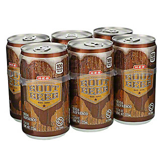 H-E-B Root Beer 7.5 oz Cans, 6 pk