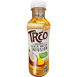 Treo Water Birch Coconut Pineapple, 16 oz