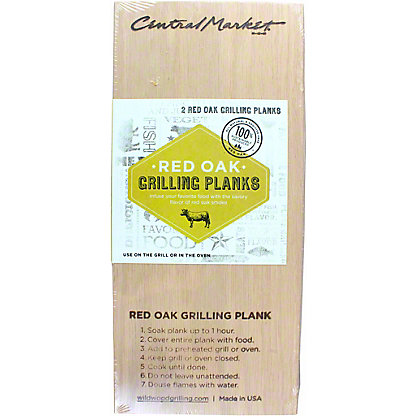 Central Market 2-pack Red Oak Grilling Plank, 5X11