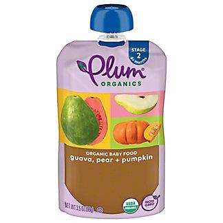 Plum Organics 2nd Stage Pear Guava Pumpkin Pouch, 3.5 oz